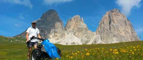 Haymaking in the Dolomites